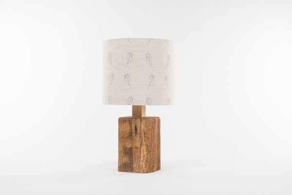 Blue fern table lamp