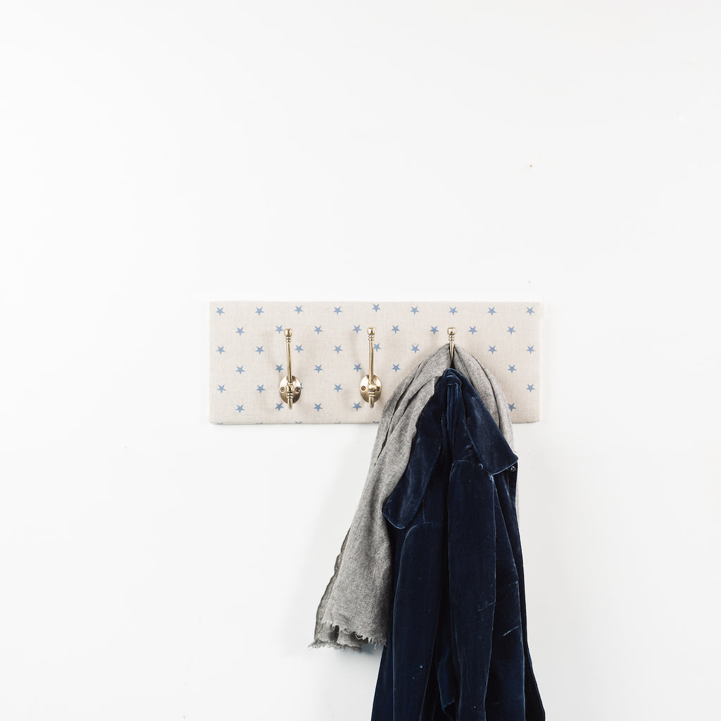 Blue star coat hooks