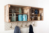 Blue star shelves and coat hooks