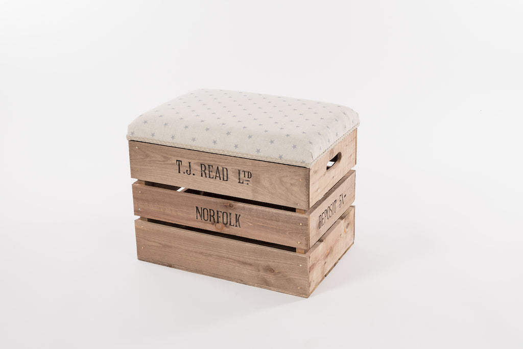 Grey star storage stool