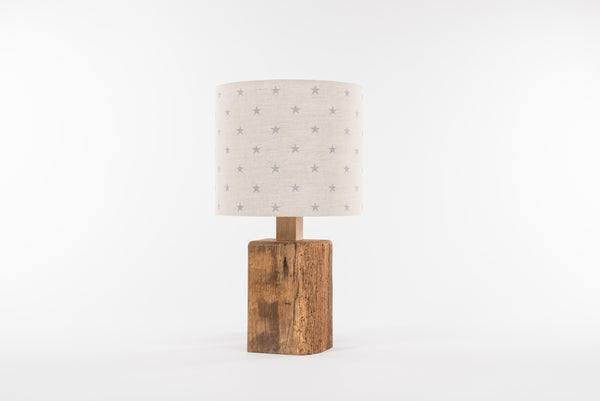Grey star table lamp
