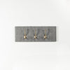 Grey stripe tweed coat hooks