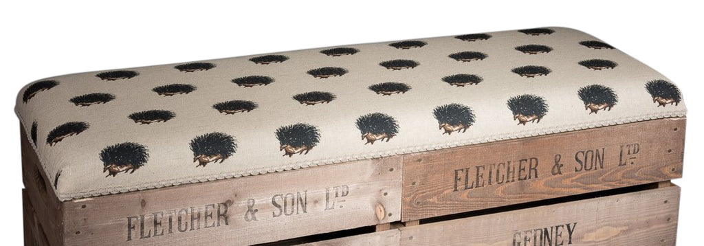 Hedgehogs storage bench