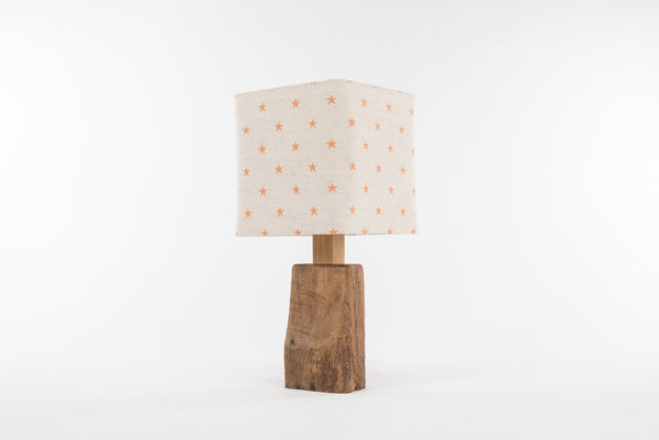 Mustard star table lamp