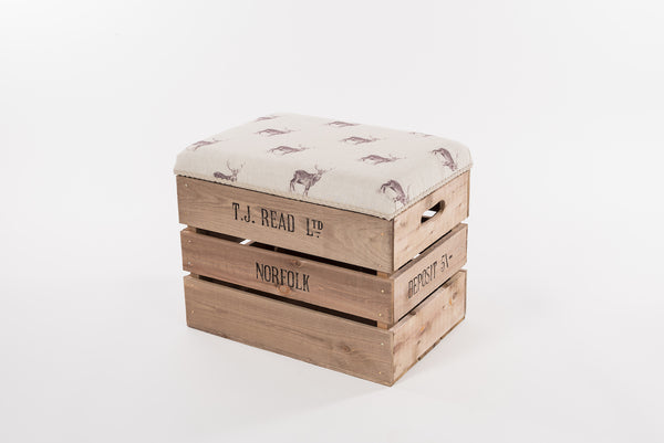 Natural stag storage stool