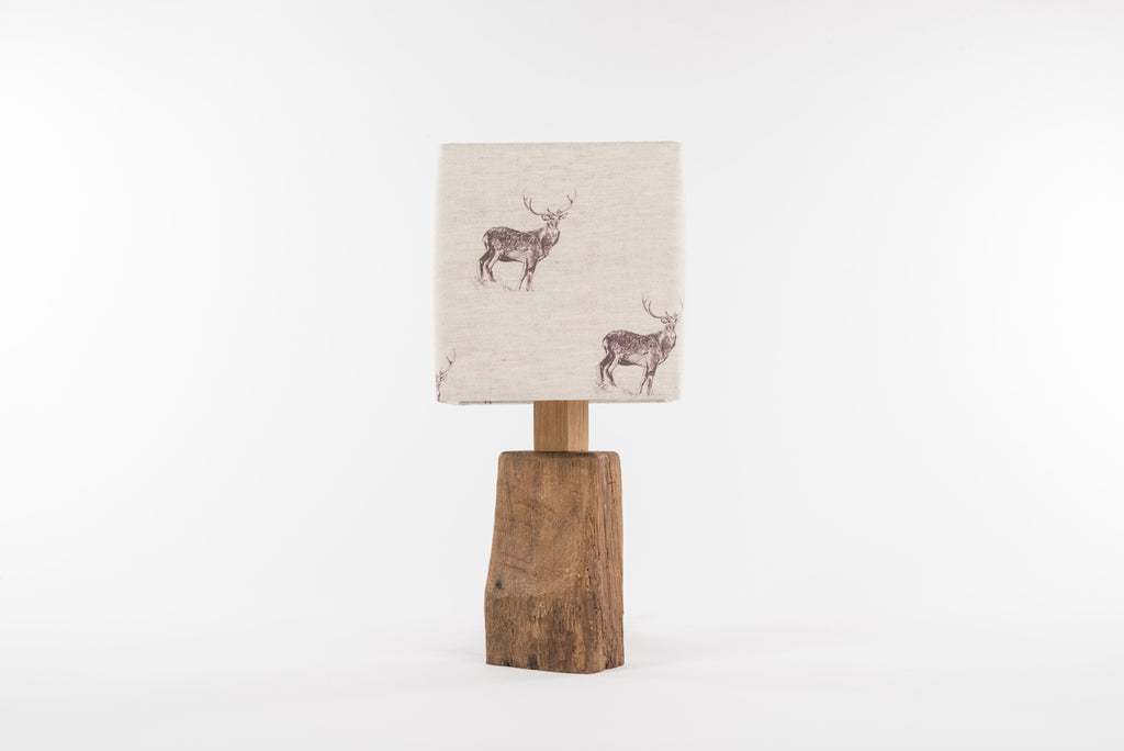 Natural stag table lamp