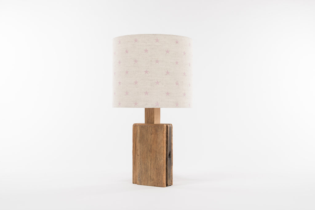 Pink star table lamp