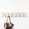 Red dot hare coat hooks