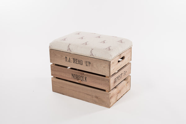 Red dot hare storage stool