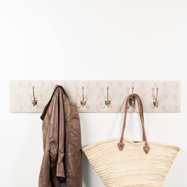 Red fern coat hooks