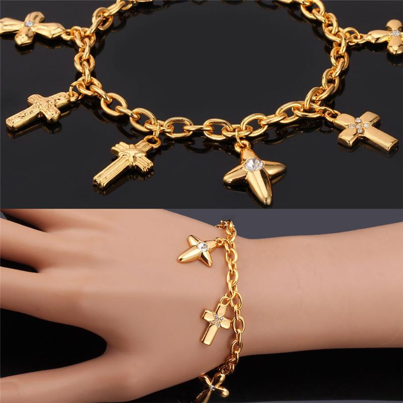 mgc color austrian yellow faithful cross charm bangle women bracelet for life gold rhinestone christian collections bracelets bangles jewelry fashion