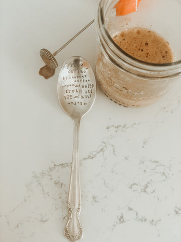 *PREORDER* The Sassy Barn Iced Coffee Recipe Vintage Spoon