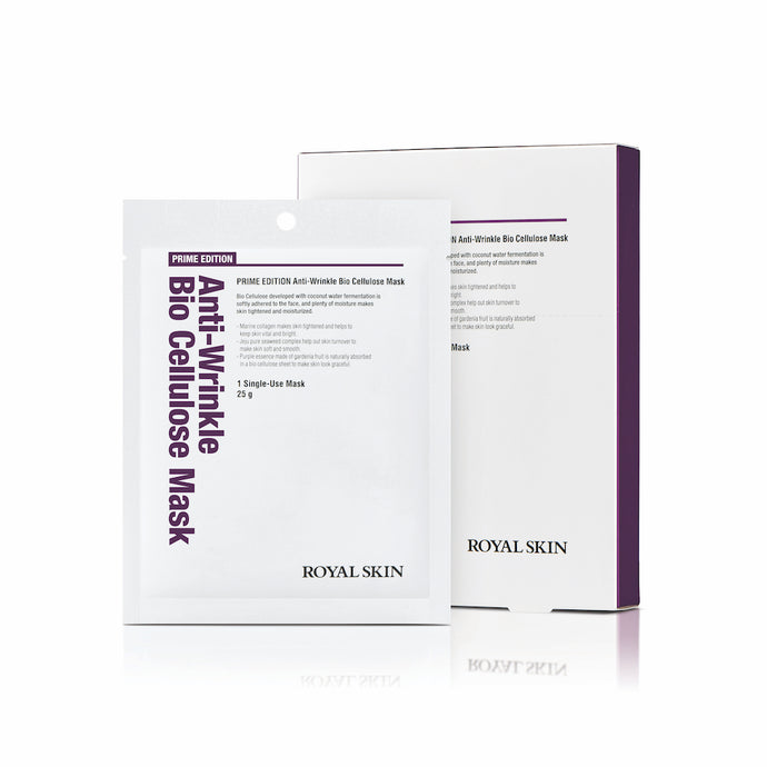 PRIME EDITION Anti-Wrinkle Bio Cellulose Mask (Pack of 5)