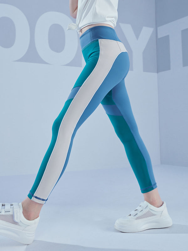 COLOUR BLOCKING LEGGINGS - Parasailing