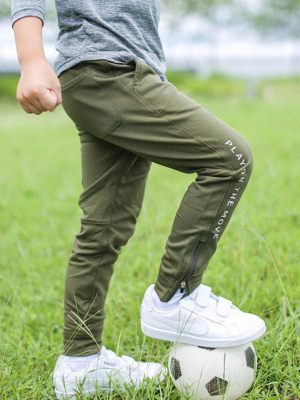 Lively Swear Jogger - Wide Olive