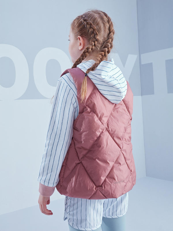 5 Letters Quilted Down Gilet - Ash Rose