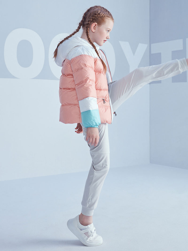Bon Bon Down Puffer Jacket - Coral Cloud