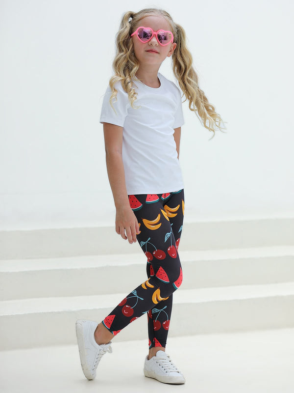 UPF50+ Breezy Legging - Fruit Party Charcoal
