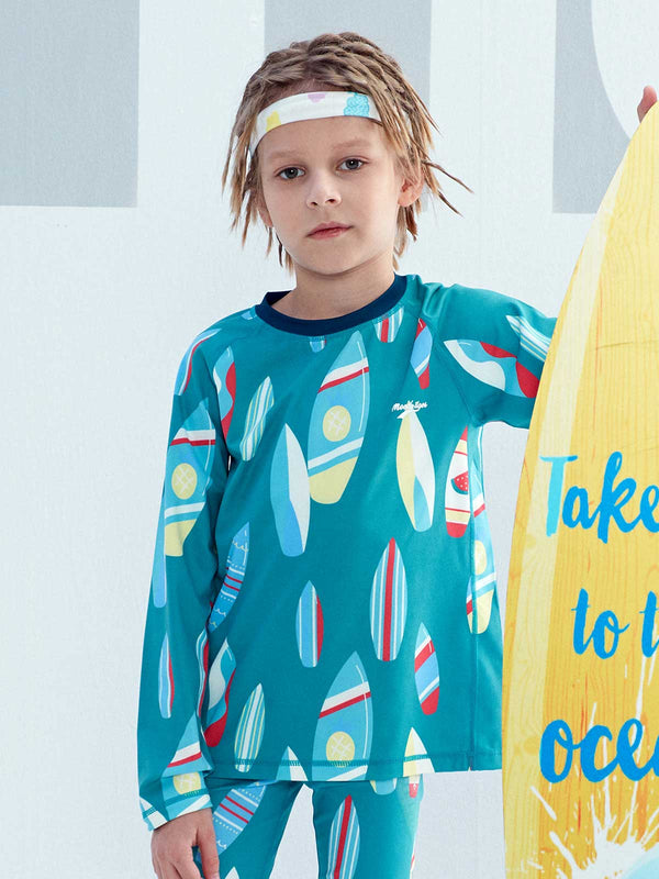 SS20 Unisex | UPF50+ DRY & WET LONG SLEEVE - Surfboard Jadeite