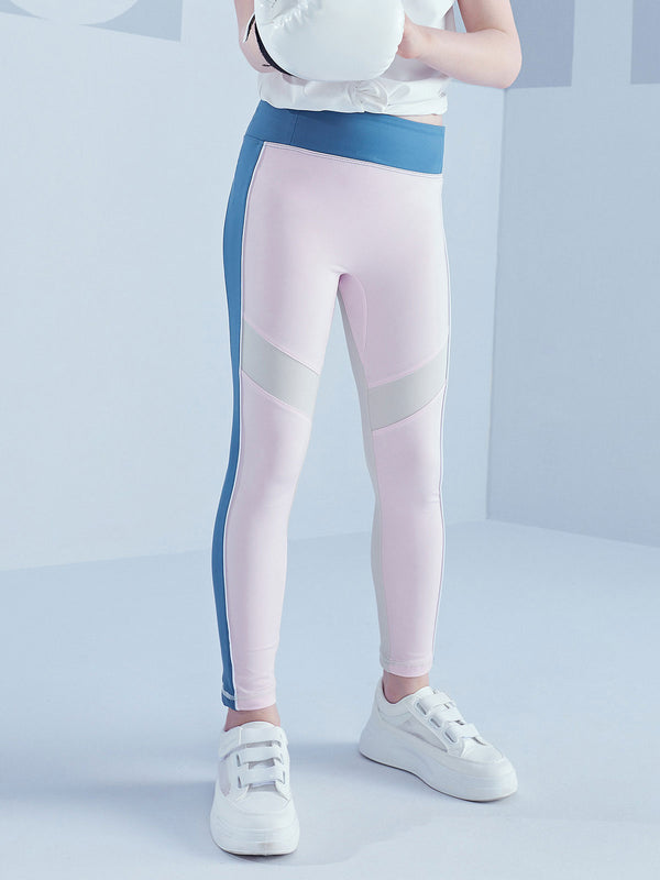COLOUR BLOCKING LEGGINGS - Cherry Blossom