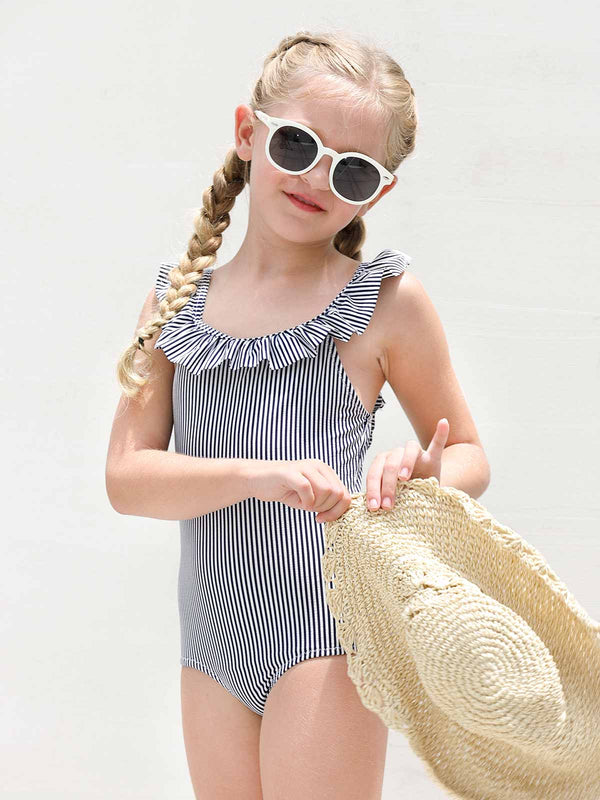 Little Talks Swimsuit - Blue Stripe
