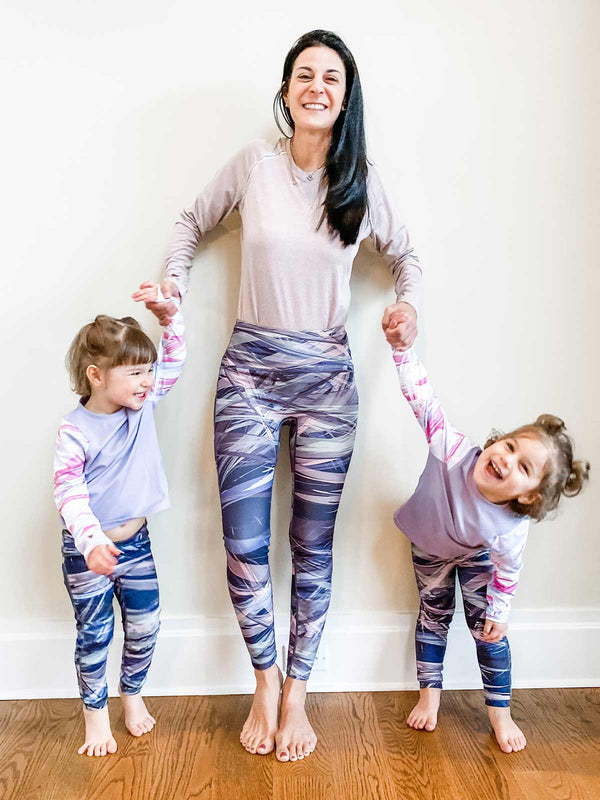 Cozy Leggings - Blueberry Marble