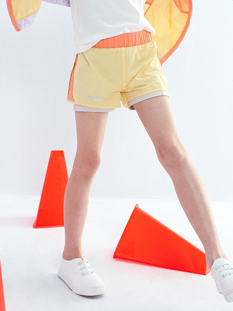 SS20 | LT WEIGHT COLOUR BLOCKING SHORT - Peach Pink