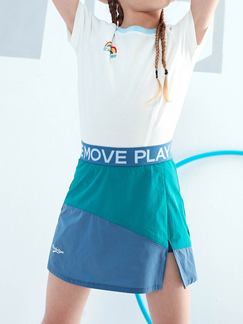 SS20 | LT WEIGHT COLOUR BLOCKING SKIRT - Parasailing
