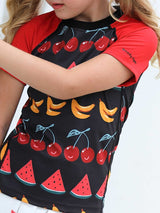Surfing Paradise Short Sleeve - Fruit Party Charcoal