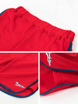 MESH BASKETBALL SPORT SHORT - Barbados Cherry