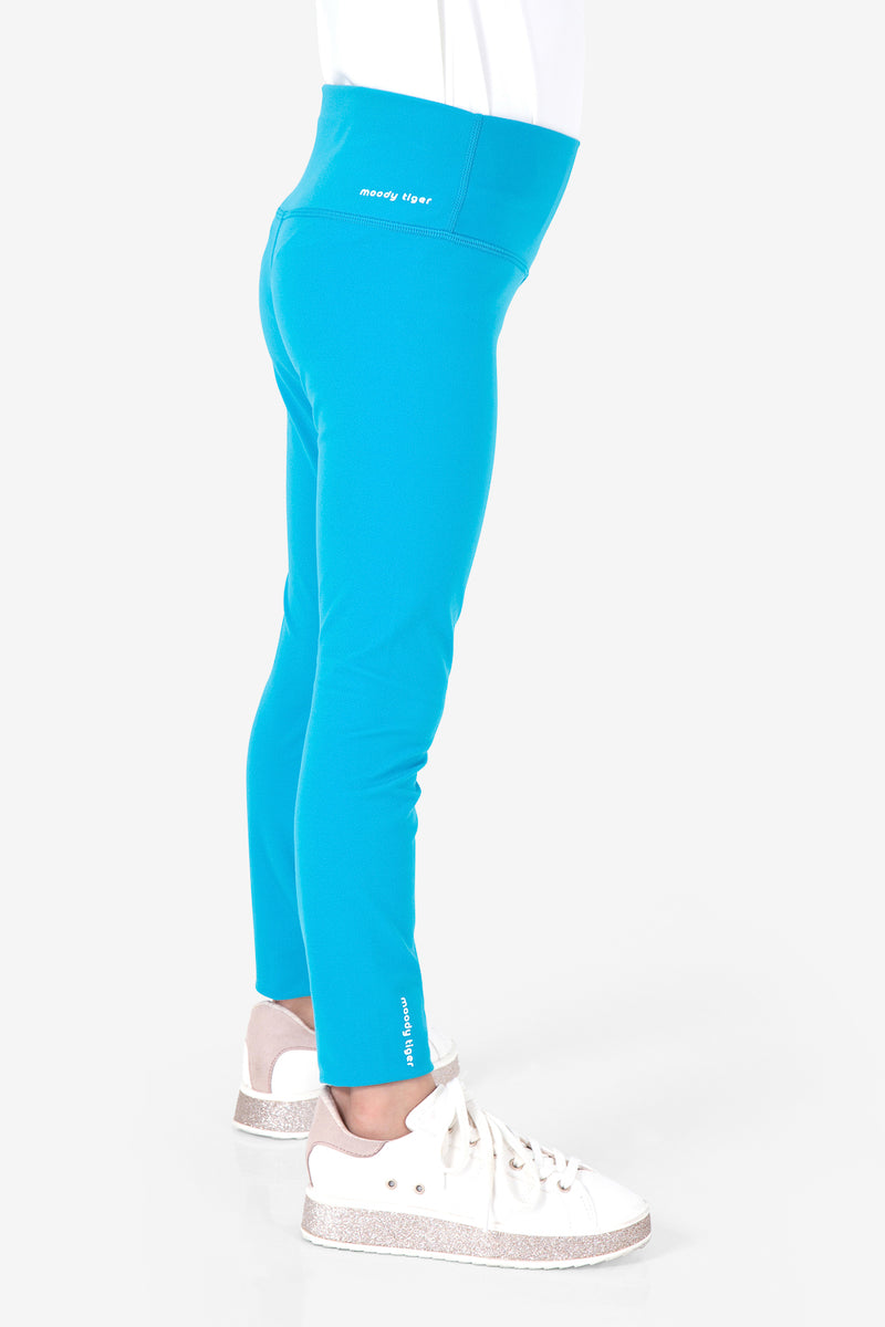 Rock, Paper, Scissors Leggings - Bondi Blue