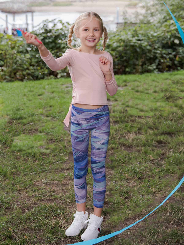 UPF50+ Breezy Legging - Blueberry Marble