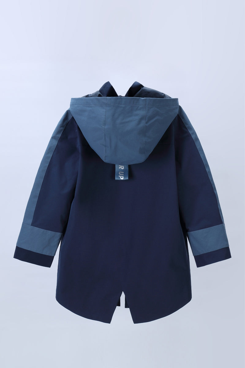 Move in the storm Waterproof Long Coat - Drees Blue (Woman)