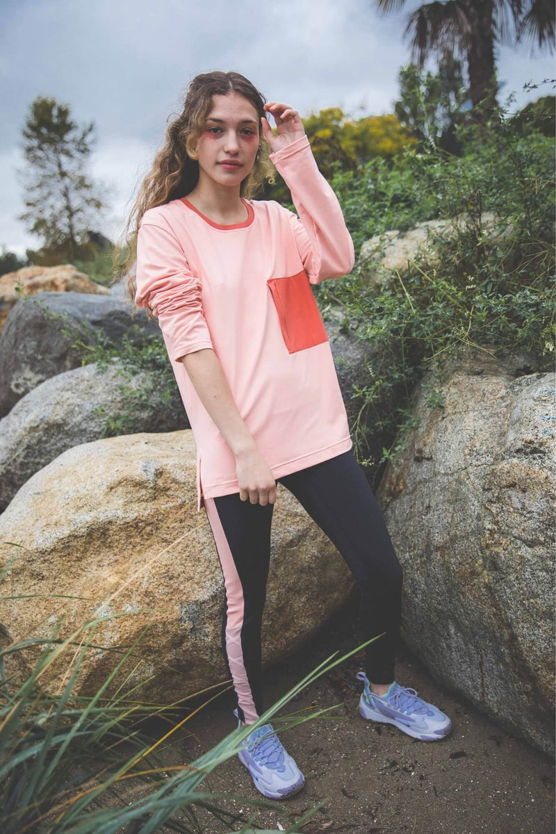 Treat You Better Long Sleeve - Coral Cloud (Woman)