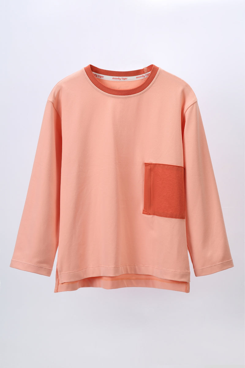 Treat You Better Long Sleeve - Coral Cloud