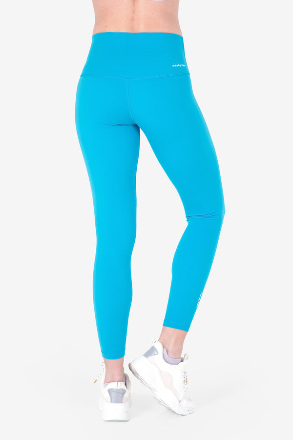 Rock, Paper, Scissors Leggings - Bondi Blue (Woman)