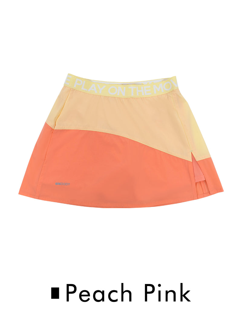 SS20 | LT WEIGHT COLOUR BLOCKING SKIRT (Woman)