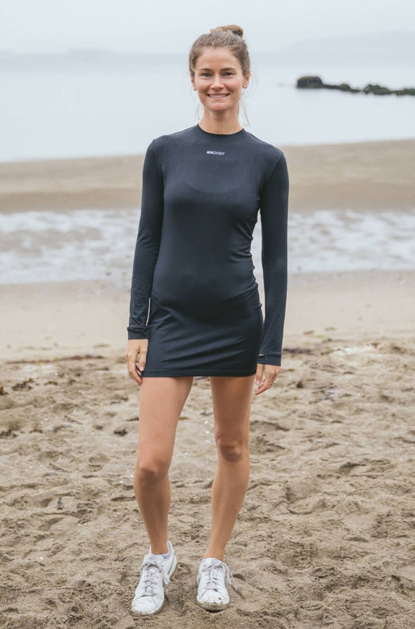 Spark Long Sleeve Stretch Dress(Woman)