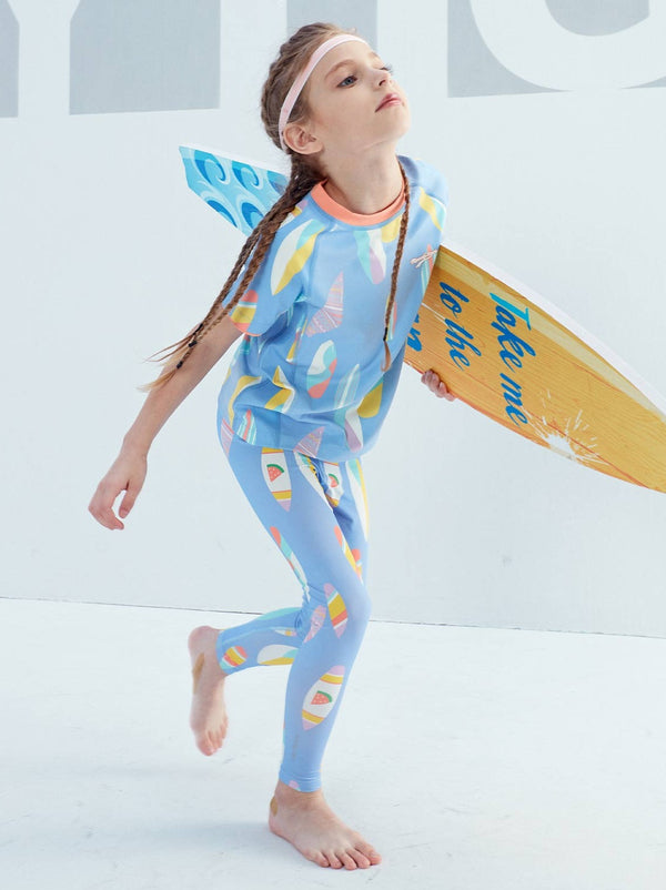 SS20 | UPF50+ BREEZY LEGGINGS - Surfboard Periwinkle
