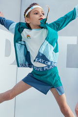 UPF50+ LT WEIGHT COLOUR BLOCKING JACKET - Parasailing