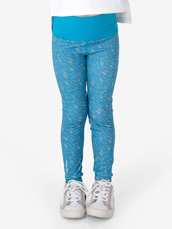 Rock, Paper, Scissors Leggings - Meteor Blue