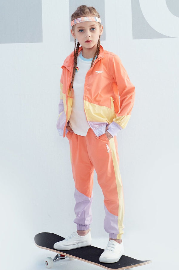 SS20 Unisex | LT WEIGHT COLOUR BLOCKING PANTS - Peach Pink