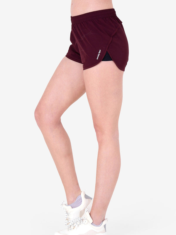 It's Time to Run Short - Burgundy (Woman)