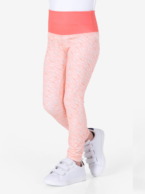 Rock, Paper, Scissors Leggings - Meteor Peach