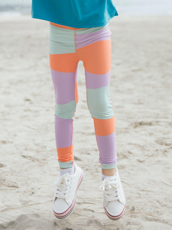 UPF50+ Breezy Legging - Block Peach