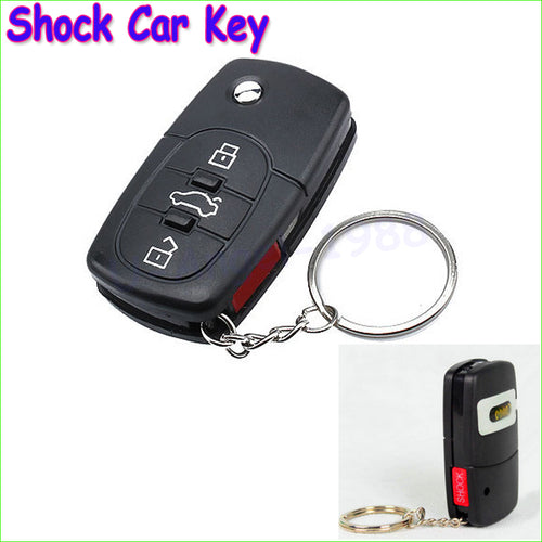 1pcs Electric Shock Gag Joke Prank Car Key Remote Control Fun with LED Light Electronic Toys - thebluedream.net
