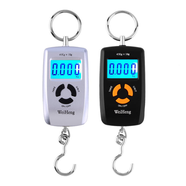 Portable Luggage Hanging Scale Fishing Hook LCD Digital Electronic Scale 45kg/10g - thebluedream.net