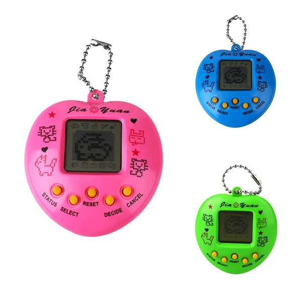 Random Color Tamagochi Pet Virtual Digital Electronic Game Machine (Pink Blue Green), Nostalgic 168 pets - thebluedream.net