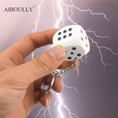 Electric Shock Toy Novelty Items keychain Prank Toy Dice Joke Gift Trick Goods April Fools' Day Gifts Shock Your Friend - thebluedream.net