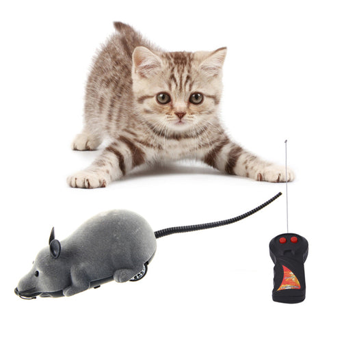 RC Rat Wireless Remote Control Mouse Joke Toy Pet Fake Prank Trick Cat Electronic Animal Novelty Funny Toys For Children - thebluedream.net